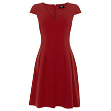 Buy Oasis Seamed Skater Dress, Mid Red Online at johnlewis.com