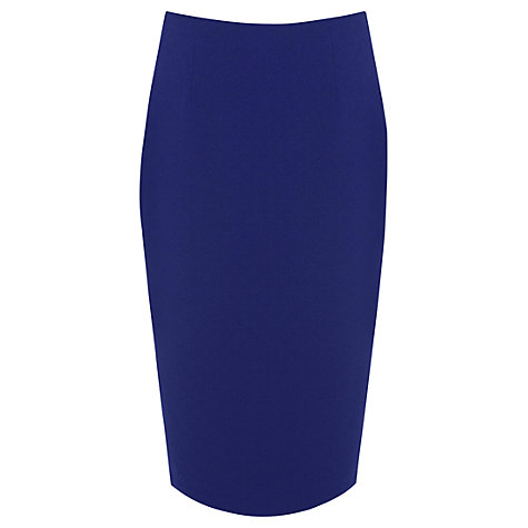 Buy Oasis Pencil Skirt, Rich Blue Online at johnlewis.com