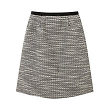 Buy Oasis Salt & Pepper Textured Skirt, Black / White Online at johnlewis.com