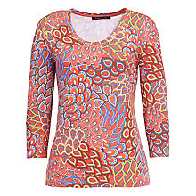 Buy Betty Barclay Paisley Jersey Top, Pink Online at johnlewis.com