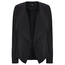 Buy Oasis Waterfall Drape Cardigan, Black Online at johnlewis.com
