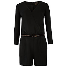 Buy Ted Baker Ariyell V-Neck Playsuit, Black Online at johnlewis.com