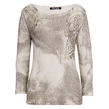 Buy Betty Barclay Gold Leaf Effect Jumper, Gold Online at johnlewis.com