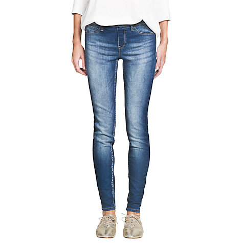 Buy Mango Plain Jeggings, Navy Online at johnlewis.com
