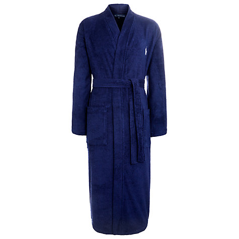 Buy Polo Ralph Lauren Cotton Robe, Navy Online at johnlewis.com