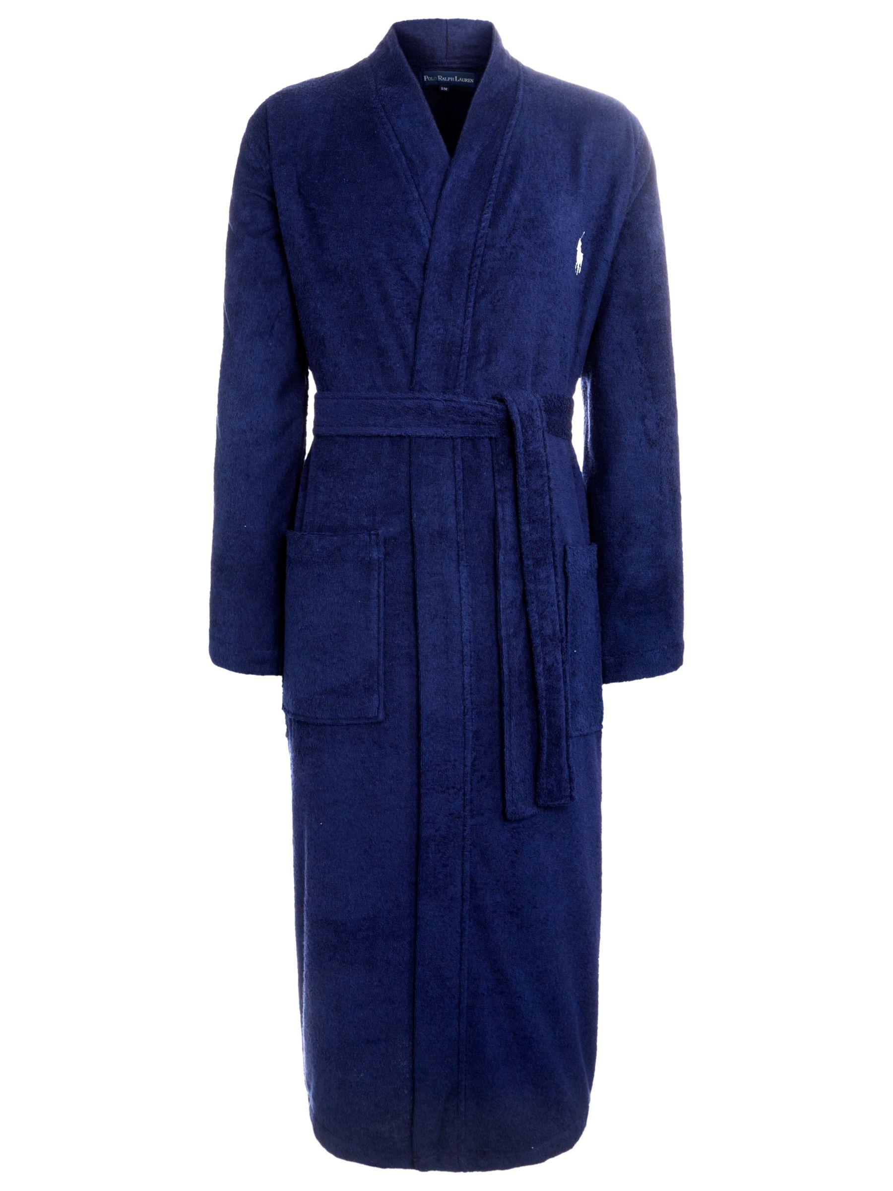 Polo Ralph Lauren Cotton Dressing Robe, Navy