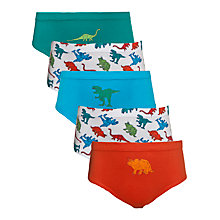 Buy John Lewis Boy Robot Dinosaur Print Briefs, Pack of 5, Multi Online at johnlewis.com