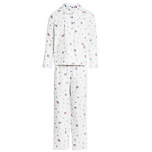 Buy John Lewis Girl Floral Print Pyjamas, Cream Online at johnlewis.com