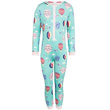 Buy John Lewis Girl Balloon Print Onesie, Aqua/Multi Online at johnlewis.com