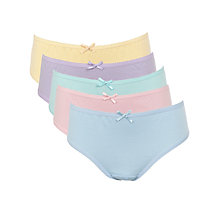 Buy John Lewis Girl Pastel Briefs, Pack of 5, Multi Online at johnlewis.com