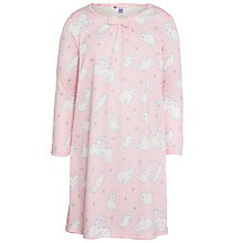 Buy John Lewis Girl Rabbit Print Nightdress, Pink Online at johnlewis.com