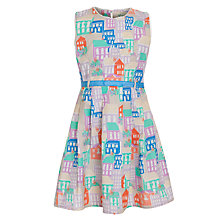 Buy Yumi Girl  Houses Print Dress, Multi Online at johnlewis.com