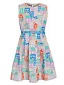 Yumi Girl  Houses Print Dress, Multi