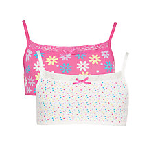 Buy John Lewis Girl Floral & Spot Crop Tops, Pack of 2, Pink/White Online at johnlewis.com