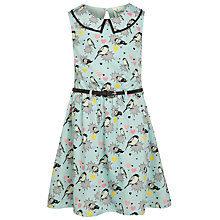 Buy Yumi Girl Pop Art Bird Print Dress, Mint Green Online at johnlewis.com