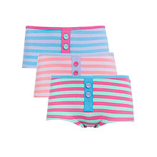 Buy John Lewis Girl Stripe Boxers, Pack of 3, Multi Online at johnlewis.com
