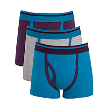 Buy John Lewis Boy Colour Block Trunks, Pack of 3, Multi Online at johnlewis.com