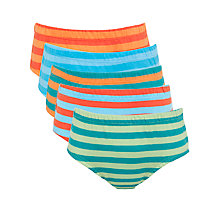 Buy John Lewis Boy Stripe Briefs, Pack of 5, Multi Online at johnlewis.com