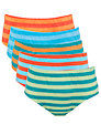 John Lewis Boy Stripe Briefs, Pack of 5, Multi