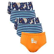 Buy John Lewis Boy Dog Briefs, Pack of 5, Multi Online at johnlewis.com
