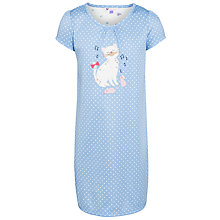 Buy John Lewis Girl Cat Applique Spot Nightdress, Blue Online at johnlewis.com
