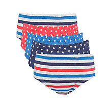 Buy John Lewis Boy Star & Stripe Print Briefs, Pack of 5, Multi Online at johnlewis.com