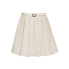 Buy Yumi Girl Lace Skirt, Cream Online at johnlewis.com