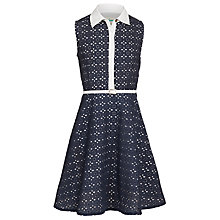 Buy Yumi Girl Broderie Shirt Dress, Navy Online at johnlewis.com