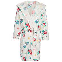 Buy John Lewis Girl Floral Print Robe, Cream/Multi Online at johnlewis.com