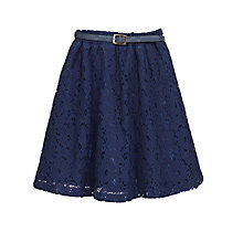 Buy Yumi Girl Lace Skirt, Navy Online at johnlewis.com