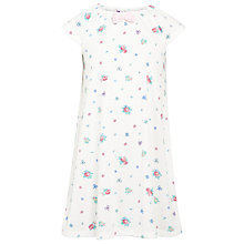 Buy John Lewis Girl Floral Print Nightdress, Cream Online at johnlewis.com