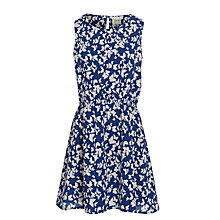 Buy Yumi Girls' Butterfly Print Dress, Navy/Cream Online at johnlewis.com