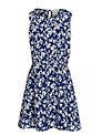 Yumi Girl Butterfly Print Dress, Navy/Cream