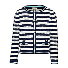 Buy Yumi Girl Stripe Cardigan, Navy/White Online at johnlewis.com
