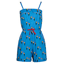 Buy Yumi Girl Toucan Print Playsuit, Blue Online at johnlewis.com