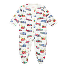 Buy Cath Kidston Baby Trains Sleepsuit, Cream/Multi Online at johnlewis.com