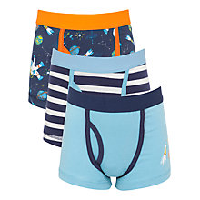 Buy John Lewis Boy Space Print Trunks, Pack of 3, Navy/Blue Online at johnlewis.com