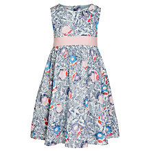 Buy John Lewis Girl Scratch Print Dress, Blue Online at johnlewis.com
