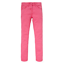 Buy John Lewis Girl Slim Fit Trousers, Bubblegum Online at johnlewis.com