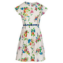 Buy Yumi Girl Floral Print Dress, Cream/Multi Online at johnlewis.com