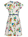 Yumi Girl Floral Print Dress, Cream/Multi