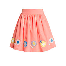 Buy John Lewis Girl Flower Applique Skirt, Sunset Online at johnlewis.com
