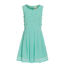 Buy Yumi Girl Flower Applique Dress, Mint Green Online at johnlewis.com
