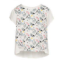 Buy Yumi Girl Pop Art Bird Print T-Shirt, Cream Online at johnlewis.com