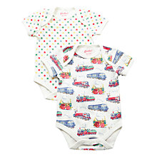 Buy Cath Kidston Baby Boys' Bodysuit, Pack of 2, Cream/Multi Online at johnlewis.com