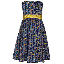 Buy John Lewis Girl Ditsy and Sequin Belt Dress, Blue Online at johnlewis.com
