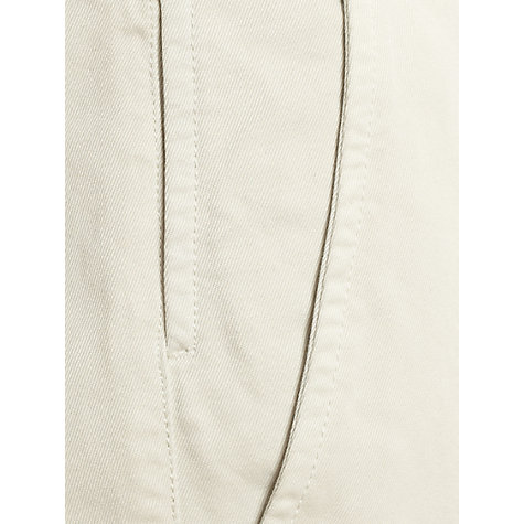 Buy Jigsaw Cotton Twill Slim Fit Trousers, Winter White Online at johnlewis.com