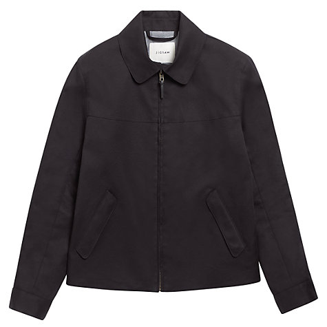 Buy Jigsaw Double Faced Proofed Zip Jacket, Navy Online at johnlewis.com