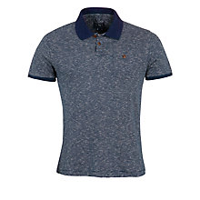 Buy Woolrich John Rich & Bros. Fine Stripe Polo Shirt, Indigo Marl Online at johnlewis.com