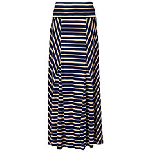 Buy Phase Eight Carolyn Striped Maxi Skirt, Navy/Stone Online at johnlewis.com